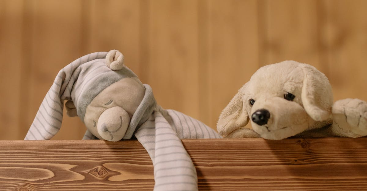 A teddy bear sitting on top of a wooden table